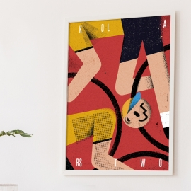 """Plakat """"Kolarstwo"""", Jakub Kamiński, 48x68"""