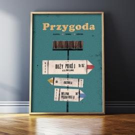 """Plakat """"Przygoda"""", Jakub Kamiński, 50x70"""