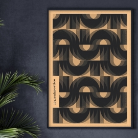 "Plakat ""Portico Quartet"", Jakub Kamiński, 48x68"