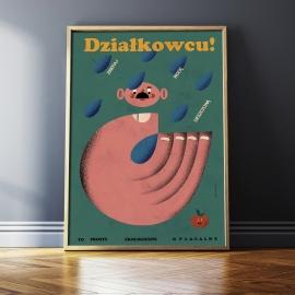 """Plakat """"Zbieraj wodę deszczową"""", J. Kamiński, 48x68"""