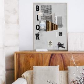 """Plakat """"BLOK"""", Jagoda Pecela"""