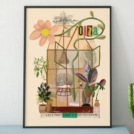 """Plakat """"Zielona Oaza"""",  Lola Styrylska"""