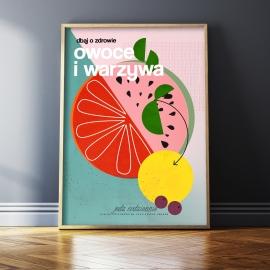 "Plakat ""Warzywa i owoce"", Jagoda Pecela"