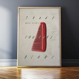 """""""Trzy kolory: Biały"""", plakat filmowy, Jakub Kamiński, 48x68"""