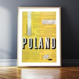 POLAND, lata 30.,  50x70cm