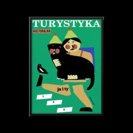 "Plakat ""Turystyka kulturalna"", Jakub Zasada, B2"